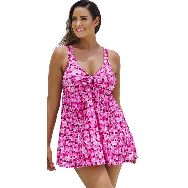 Beach Belle Gemstones Tie-Front Swimdress