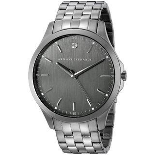 Armani Exchange Men's AX2169 'Hampton' Chronograph Grey Stainless Steel Watch
