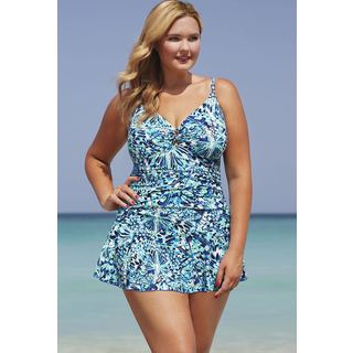 Shore Club Flutter Keyhole Swimdress
