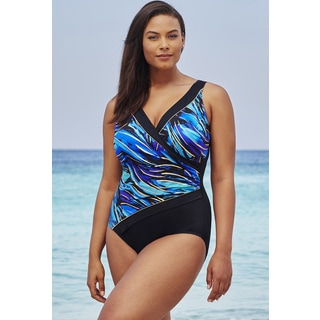 Longitude Parakeet Surplice Swimsuit