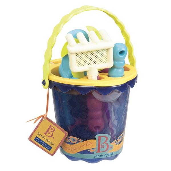 B. Toys B. Sands Ahoy Medium Beach Bucket Set