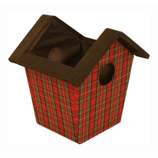 Wood Birdhouse Pot Cover - Set of 6, 5 in