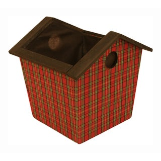Wood Birdhouse Pot Cover - Set of 3, 7 in