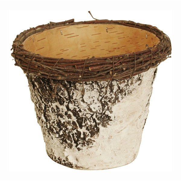 Birch Bark Planter - Set of 6, 5 in