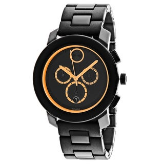 Movado Men's 3600275 Bold Round Black Stainless Steel Bracelet Watch