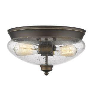 Avery Home Lighting 2-Light Flush Mount in Olde Bronze