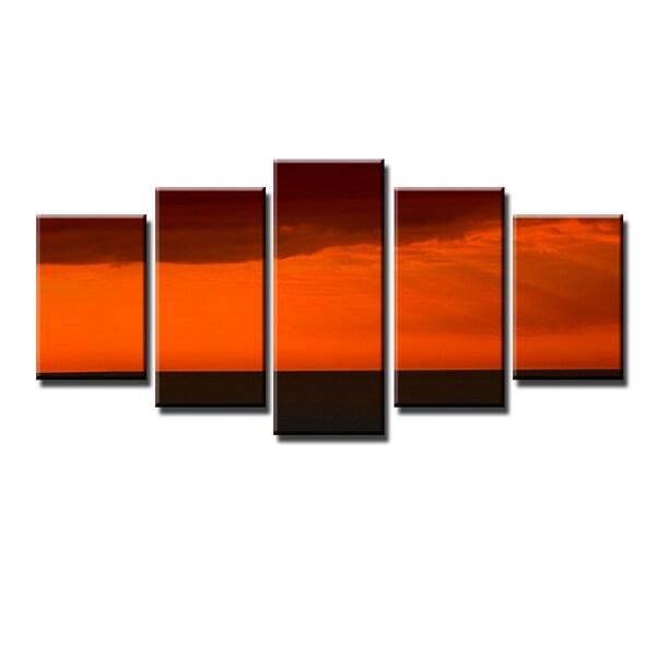 Ready2HangArt Bruce Bain 'Harsh Horizon' 5-PC Canvas Art Set