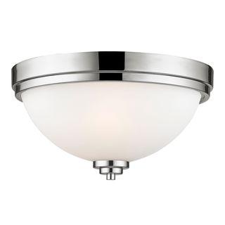 Z-Lite 2-Light Flush Mount in Chrome