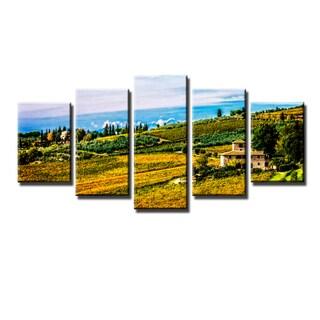 Ready2HangArt Bruce Bain 'Tuscan Landscape V' 5-PC Canvas Art Set