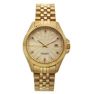 Croton Men's CN307528YLCD Stainless Steel Goldtone Diamond Marker Watch