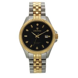 Croton Men's CN307528TTBK Stainless Steel Two-tone Diamond Marker Watch