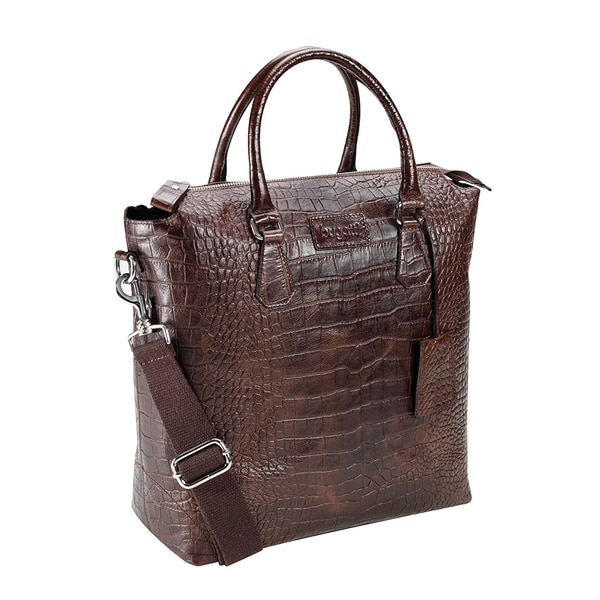 Bugatti Perth Leather Croco Embossed Shopper Bag