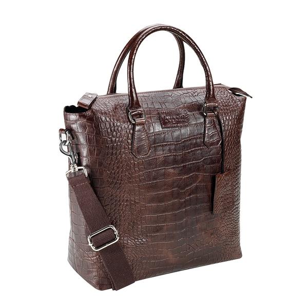 Bugatti Perth Leather Croco Embossed Shopper Bag
