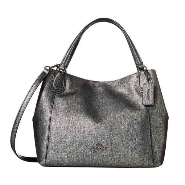 Coach Metallic Pebbled Leather Edie28 Shoulder Bag