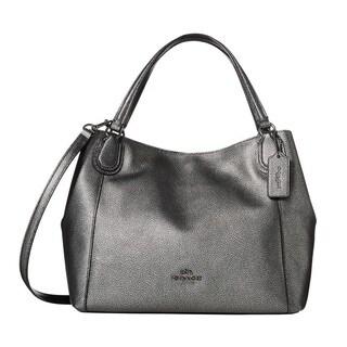 Coach Metallic Pebbled Leather Edie28 Shoulder Bag