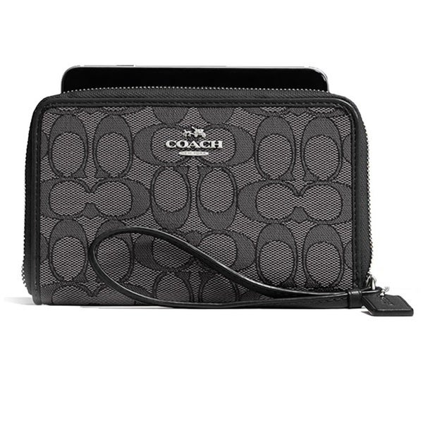 Coach Signature Zip Around Organizer