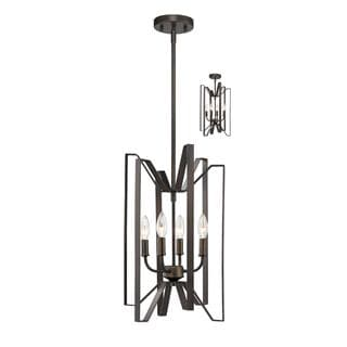 Z-Lite Marsala 4-light Pendant in Bronze