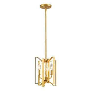 Z-Lite Marsala 3-light Mini Pendant in Polished Metallic Gold