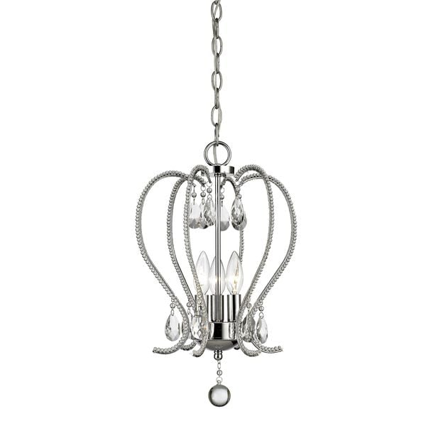 Z-Lite Serenade 3-light Chandelier in Chrome