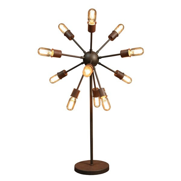 Celia 12-light Antique Bronze 30-inch Edison Table Lamp with Bulbs