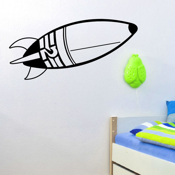 Extraterrestrial Space Rocket Wall Art Sticker Decal