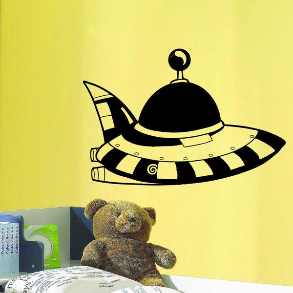 Alien UFO Wall Art Sticker Decal