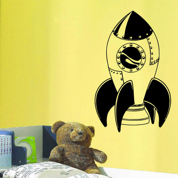 Children's rocket takes off Wall Art Sticker Decal