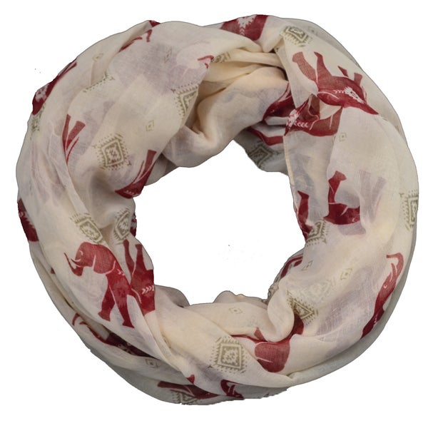 LA 77 Tribal Elephant Animal Print Infinity Scarf