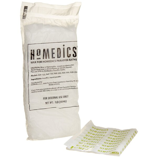 HoMedics PAR-WAX-THP Paraffin Bath Replacement Paraffin Pearls with 20 Plastic Liners