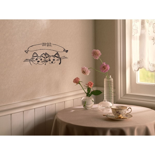 Sausage Kitchen Kittens Style Wall Art Sticker Decal