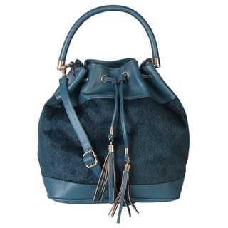 Rimen and Co. Drawstring Shoulder Hobo Tote Handbag