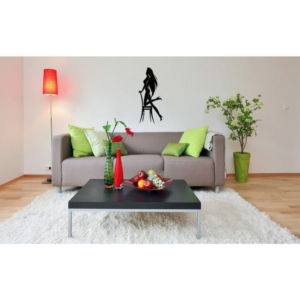 Dance on a chair Girl Wall Art Sticker Decal