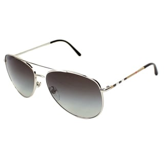 Burberry Women's BE3072 Aviator Sunglasses