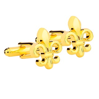 Zodaca Mens Vintage Golden Scouts Cufflinks for Wedding and Party