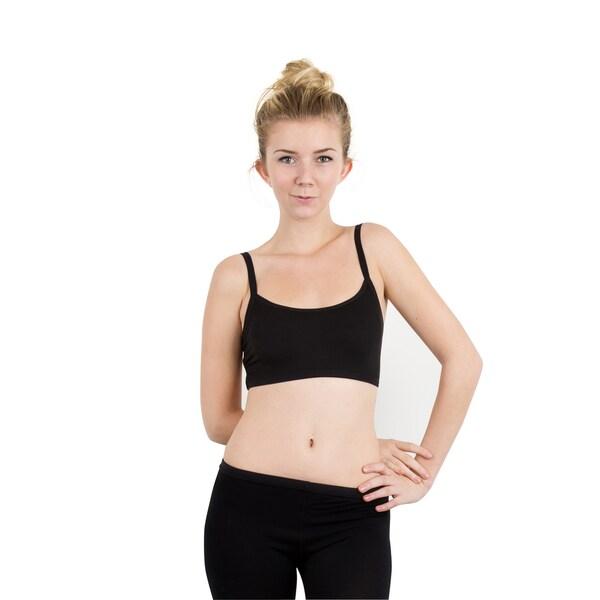 Zodaca Women Sexy Modal Extra Comfort Racerback Padded Fitness Sports Bra