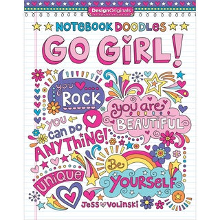 Design Originals Notebook Doodles Go Girl