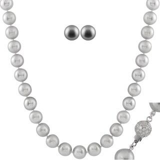 Grey Freshwater Pearl 2-piece Set (10-11 mm)
