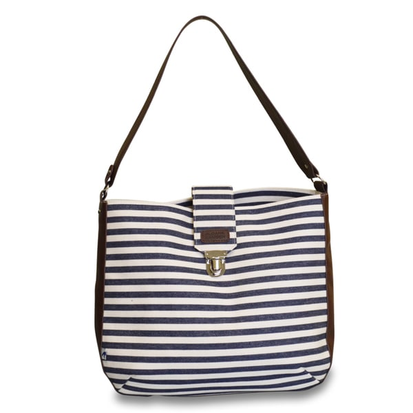 Sloane Ranger Denim Stripe Shoulder Bag