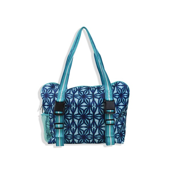 All For Color Indigo Batik Yoga Tote