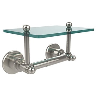 Allied Brass Astor Place Two Post Toilet Tissue Holder with Glass Shelf
