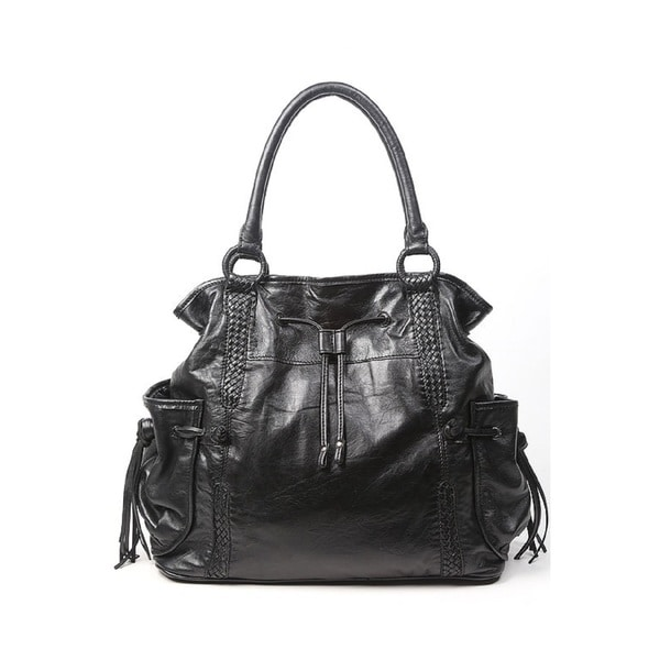 Old Trend OT14902 Valley Woven Black Tote