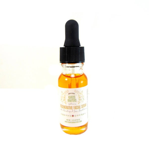 Regenerative with Sea Buckthorn and Rosehip Facial Serum, Natural, Frankincense Oil, Geranium Oil by Karess Krafters Apothecary