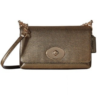 Coach Metallic Pebble Leather Crosstown Crossbody