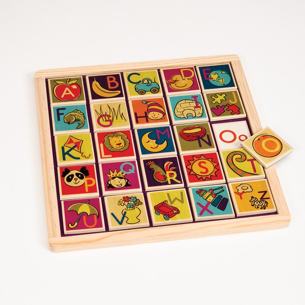 B. Toys B. Magnetic Alphabetic Puzzle Plank Toy