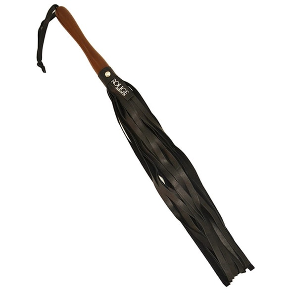 Rouge Leather Flogger with Wooden Handle