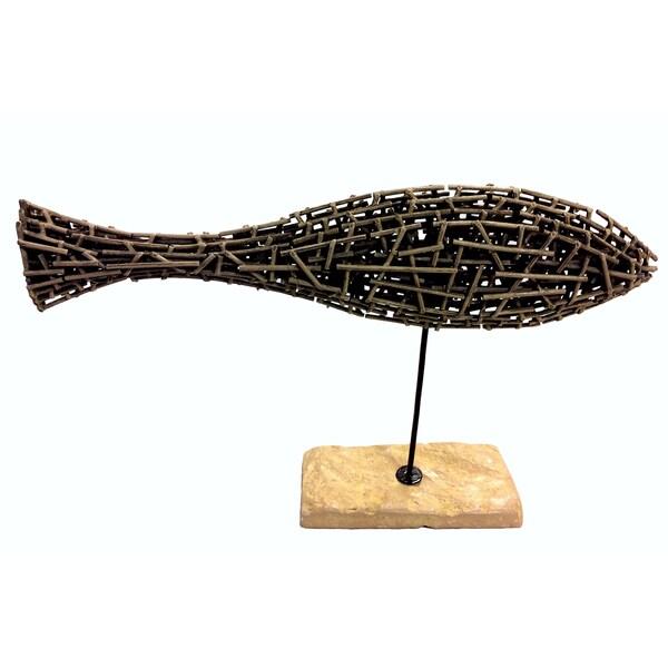 Slender Fish Sculpture