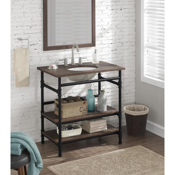 36 inch Industrial Open Shelf Vanity 18184005