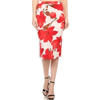 MOA Collection Women's Floral Pencil Skirt