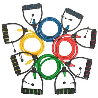 Bintiva Professional Grade Individual Adjustable Resistance Bands (Extra Long Length with Premium Comfort D Handles)