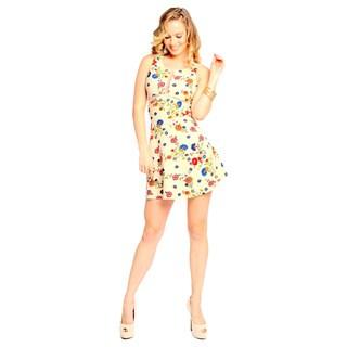 Sara Boo Women's Mesh Side and Back Skater Dress